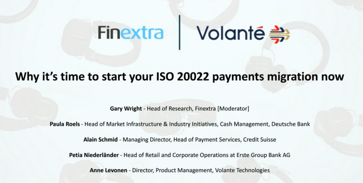 Webinar: Why it's Time to Start Your ISO 20022 Payments Migration Now