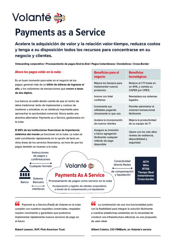 Volante Payments as a Service Español