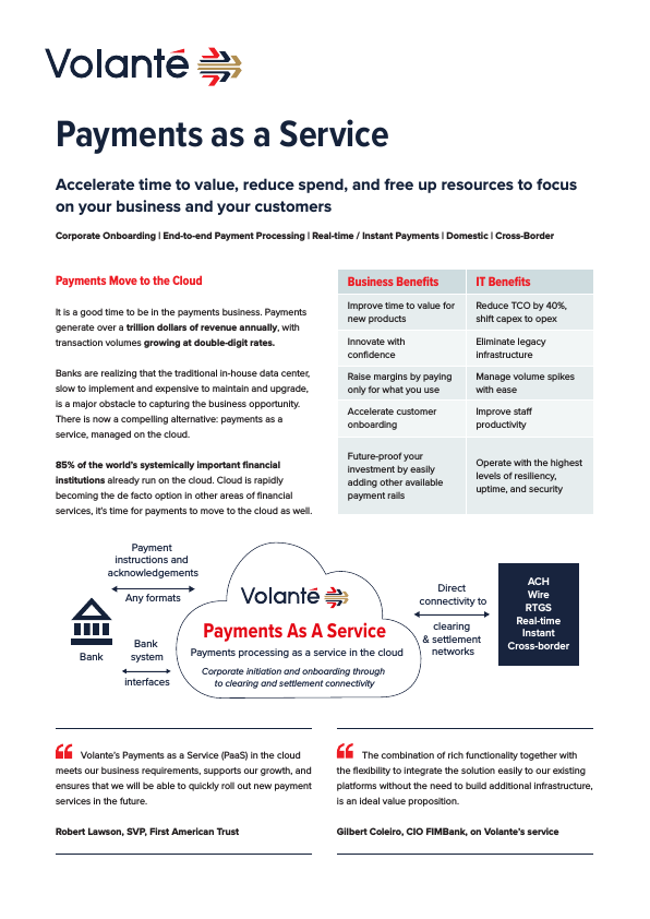 Volante Payments as a Service