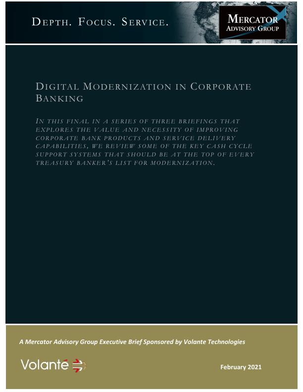 Digital Modernization In Corporate Banking