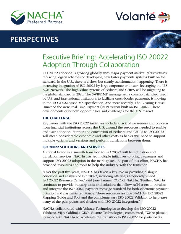 NACHA ISO 20022