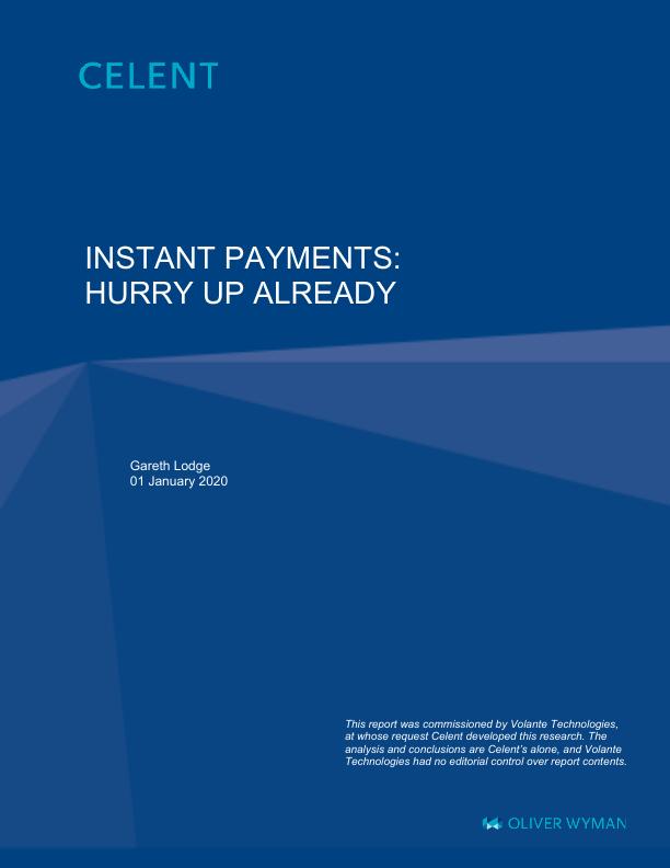Celent: Instant Payments