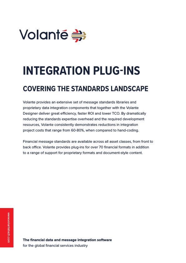 Integration Plug-ins: Covering the standards landscape