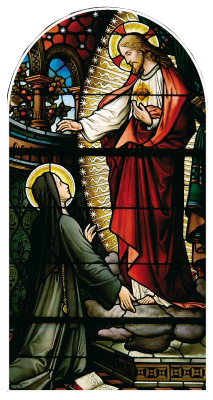 Our Lord appearing to St Margaret Mary Alacoque