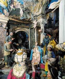 Nativity scene in the Church of Santa Maria in Via, Rome
