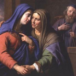 Mary greeting Elizabeth - the Visitation