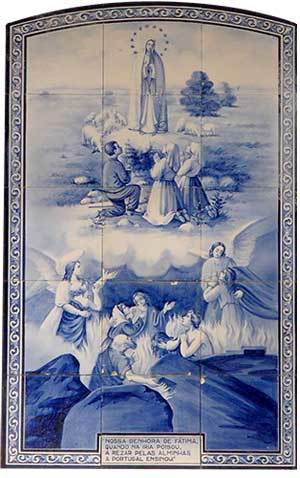 """Traditional Portugese """"azulejos"""" or painted tiles"""