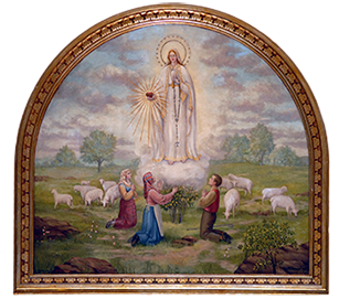 Painting of an Apparition of Our Lady of Fatima