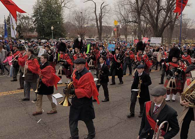 2020 March for Life - Our Band leading the March