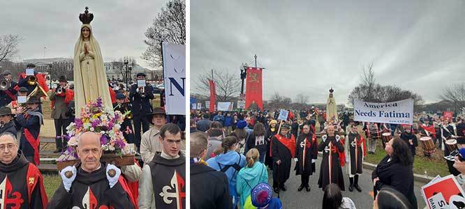 2020 March for Life - Our Lady of Fatima Statue