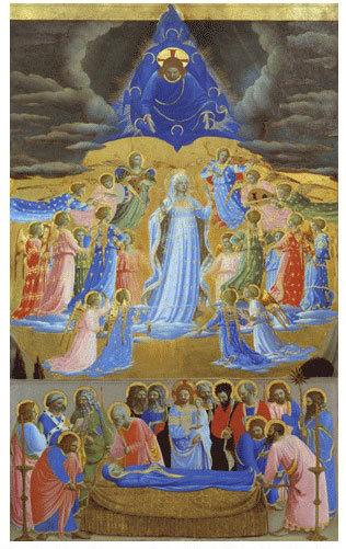 The Death and Assumption of the Virgin-Fr Angelico