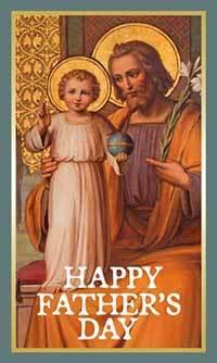 Fathers Day Card - St Joseph