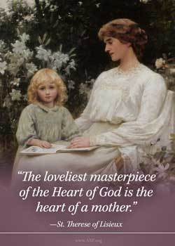 Mothers Day Card - St Therese Quote