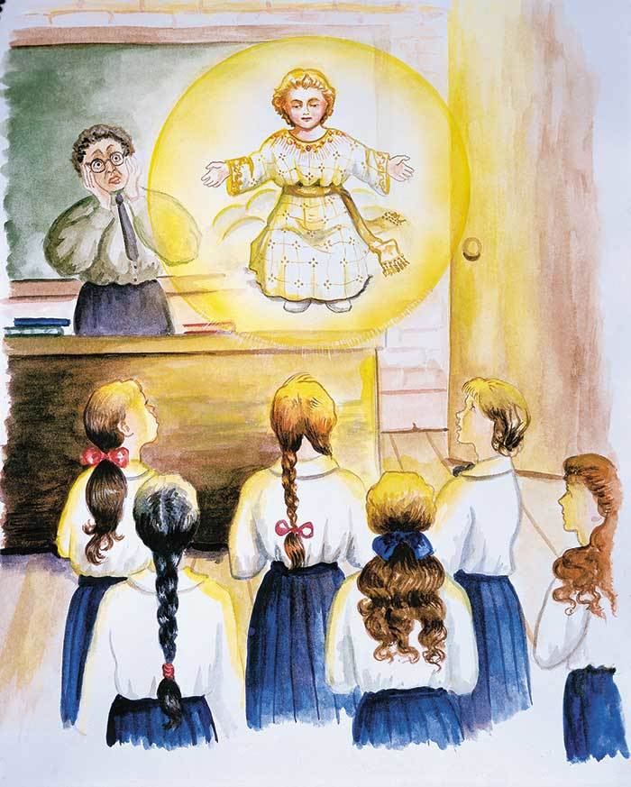 Jesus appears in the classroom