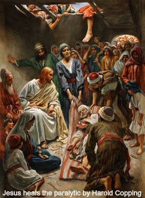 Image: Our Lord heals the paralytic