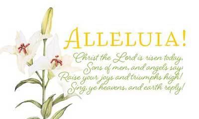 Easter Card - Alleluia