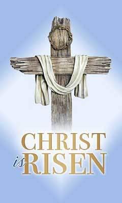 Easter Card - Christ is Risen - Wood Cross