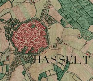 Image: Map of Hasselt, Belgium