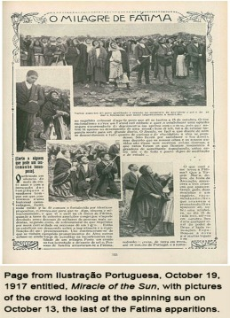 Newpaper article about the Miracle of the Sun
