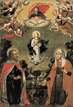 Painting of the Immaculate conception