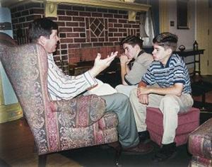 Mr Phelps teaching the boys