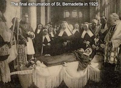 St Bernadette final exhumation in 1925