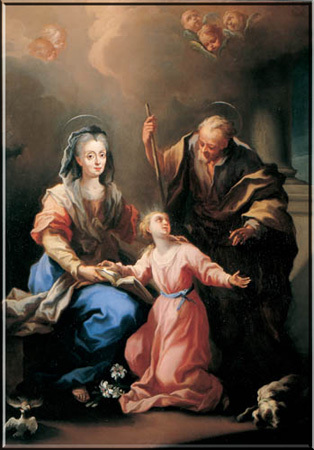 St Anne, St Joachim and the Blessed Virgin Mary as a child