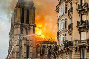 Fire engulfed Notre Dame on April 15, 2019