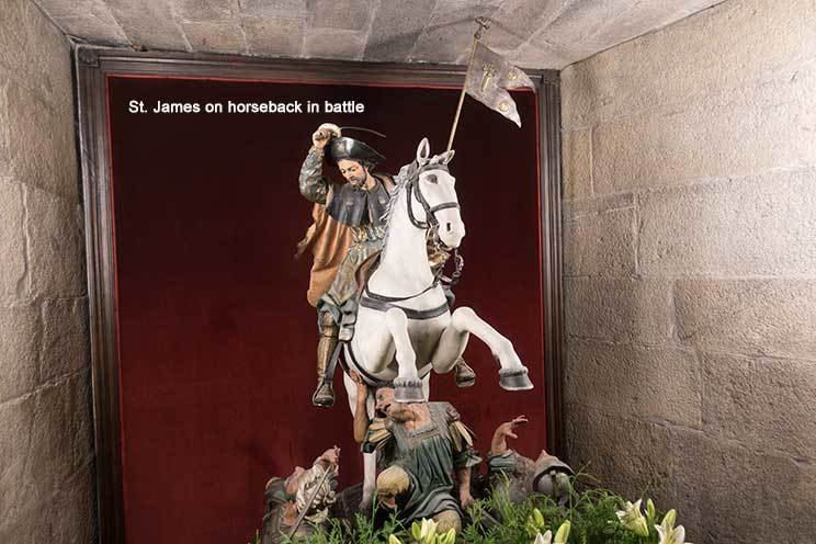 Statue of St James on horse back