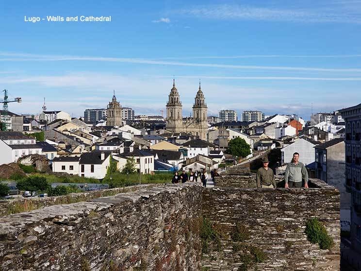 Lugo walls and cathedral