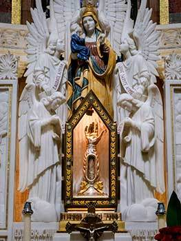 Relic of the Arm of St Anne in the Shrine in Quebec