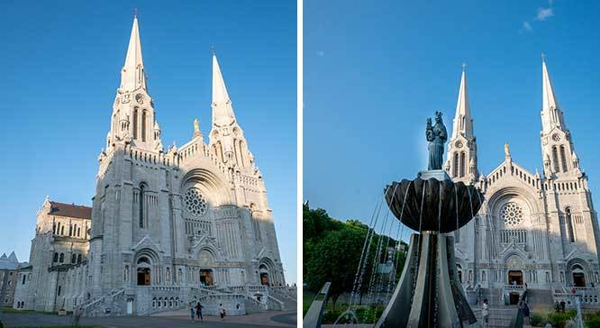 Shrine of St Anne de Beaupre in Quebec Canada