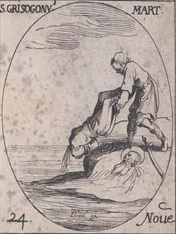 Sketch of the martyrdom of St. Chrysogonus