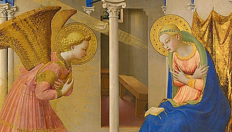 St. Gabriel Announcing the birth of Our Lord to the Blessed Mother