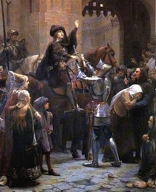St Joan of Arc on horseback