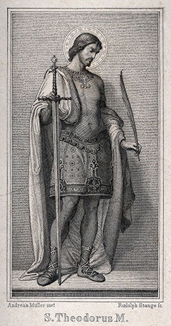 Engraving of St Theodore