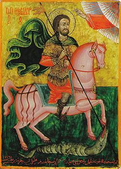 St Theodore slaying a dragon