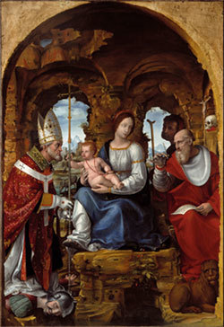 Painting by Bernardino Zenale of Saint Jerome