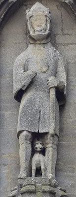 Stone Statue on Church