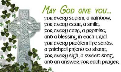 St Patrick's Day Card - Card 1 - May God Give You...