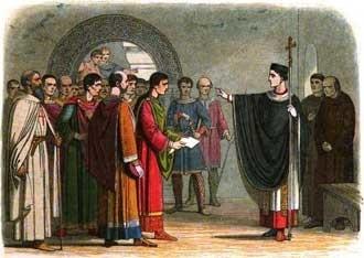 St Thomas Becket confronts a nobelman