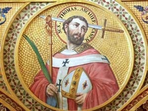 Painting of Saint Thomas Becket