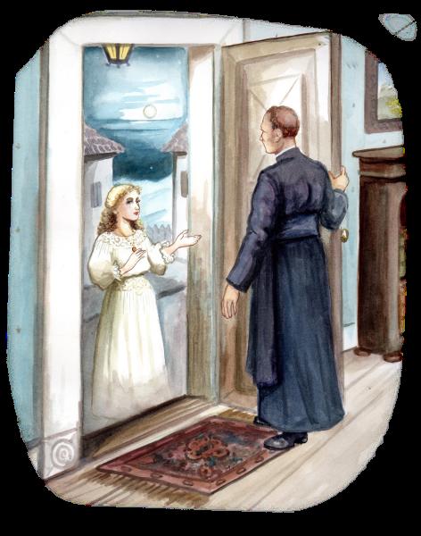 Child standing in the door way