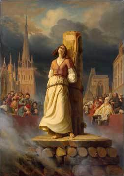 Joan of Arc's death at the stake