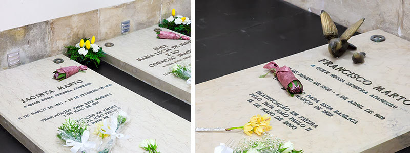 Tomb Stones of Francisco and Jacinta Marto in Fatima