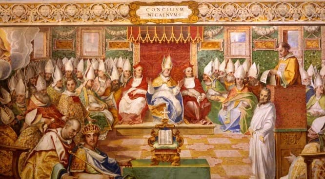 Image: Church Council, Pope convening with Bishops
