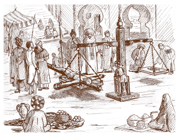 weighing of the cross