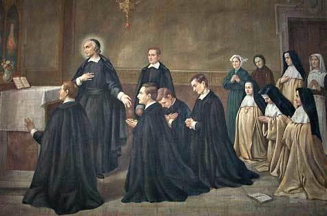 Saint John Eudes Leading Prayer