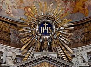 I.H.S. - initials for Our Lord's name