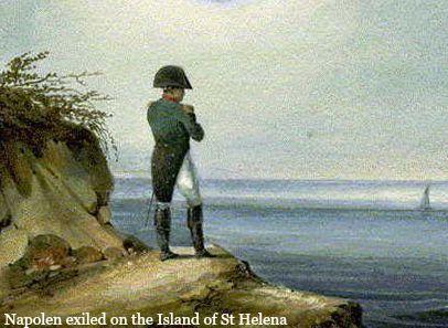 Napoleon exiled on the Island of St. Helena